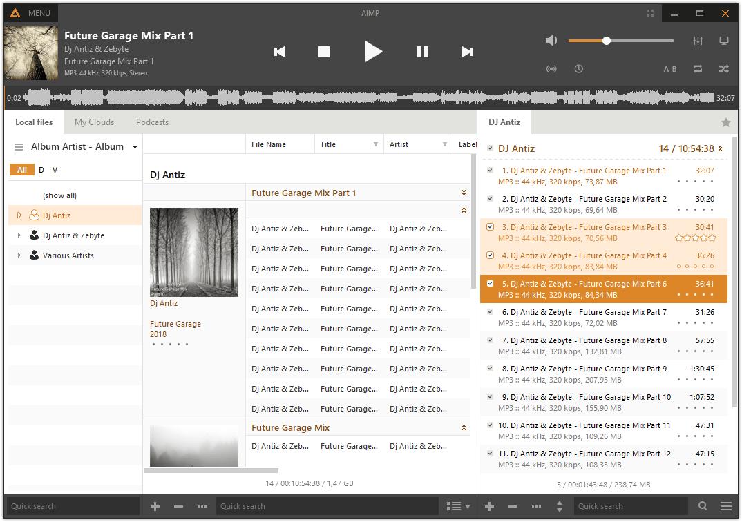 Phần mềm nghe nhạc Lossless Aimp.ru