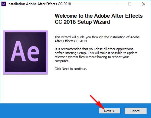 cài đặt adobe after effect cc 2018 full hình 1