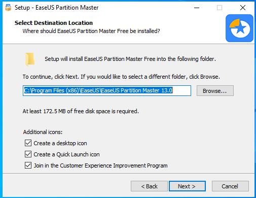 cài đặt easeus partition master hình 4