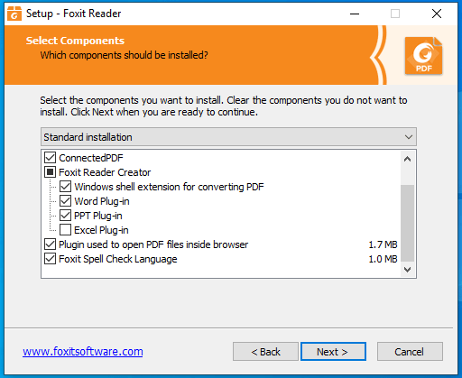 cài đặt foxit reader pdf full 4