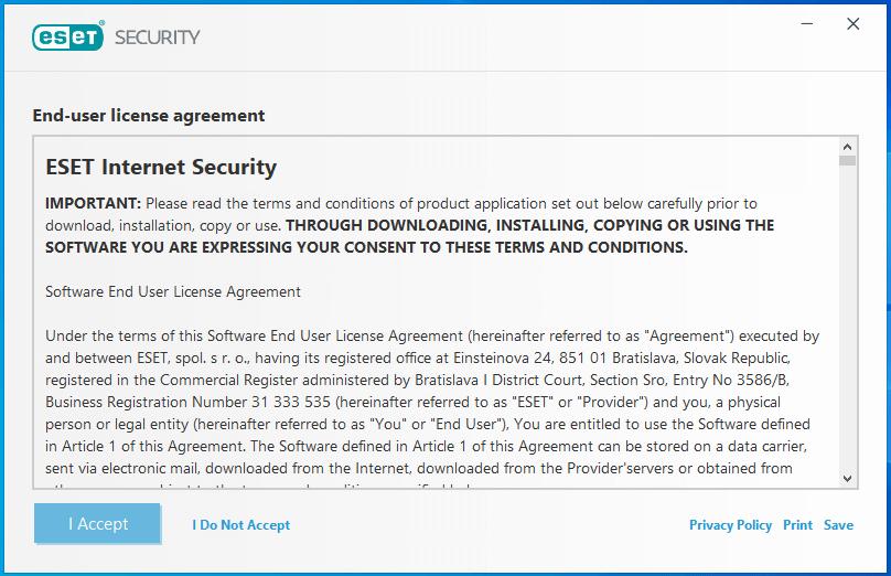 cài đặt và kích hoạt eset internet security hình 2