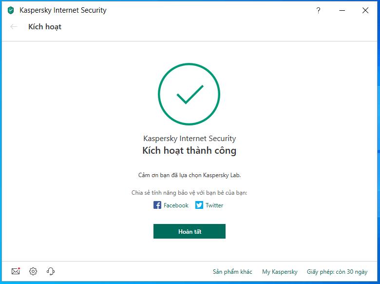 cài đặt và kích hoạt kaspersky internet antivirus hình 9