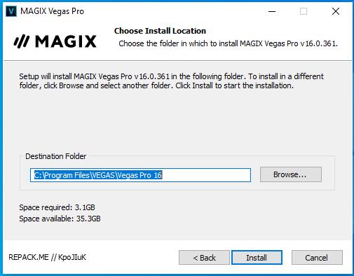 cài đặt magix sony vegas pro 16 repack hình 4