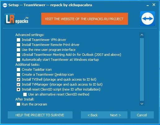 cài đặt teamviewer 4