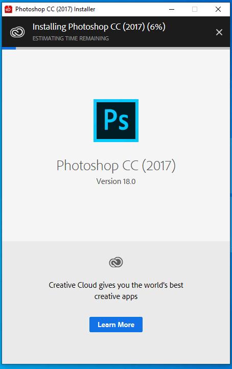 cài đặt photoshop cc 2017 hình 2