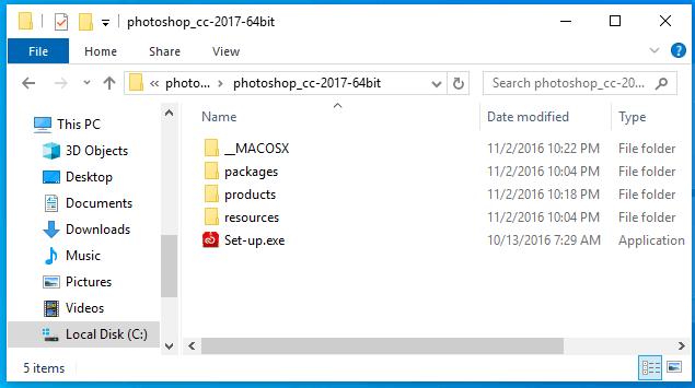 cài đặt photoshop cc 2017