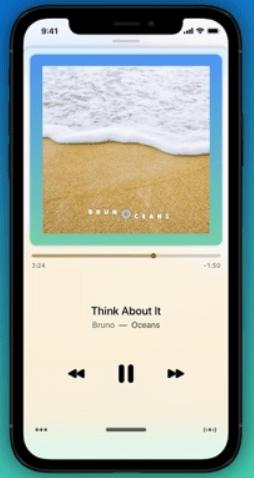 Giao diện ứng dụng nghe nhạc Marvis Media Player