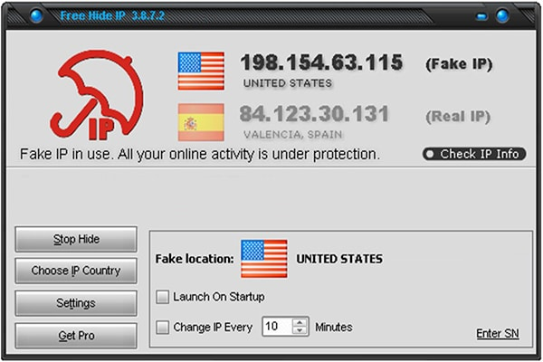 phần mềm fake IP
