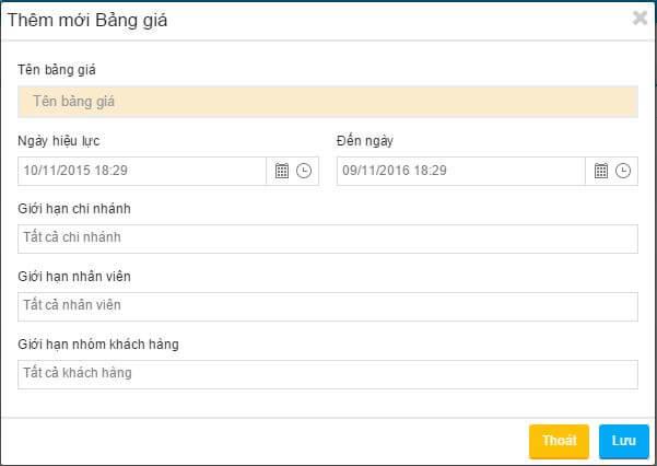 Giao diện phần mềm bán hàng POS365
