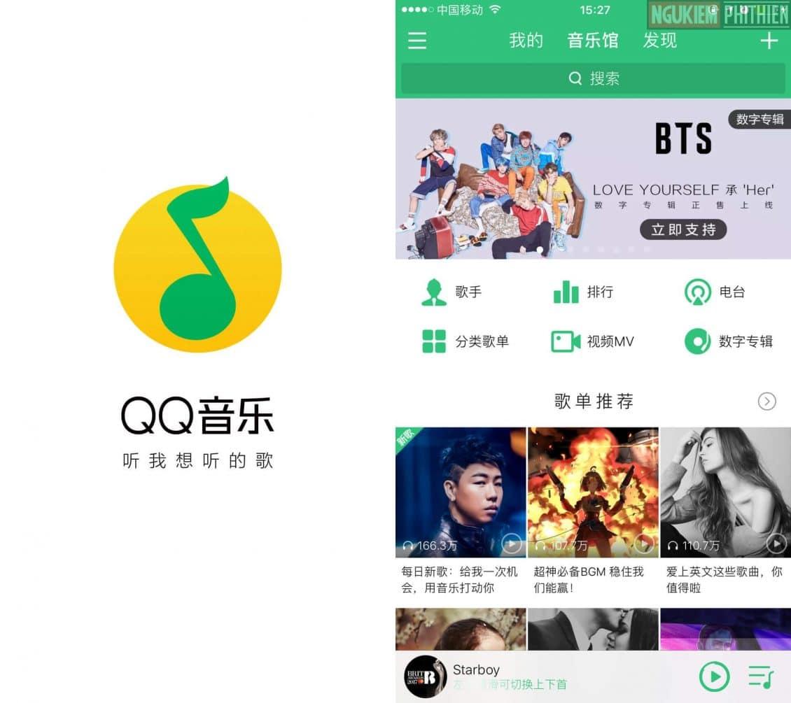 Ứng dụng nghe nhạc QQ music