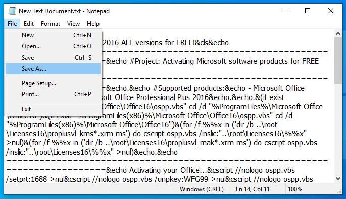 save file txt