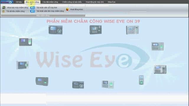 Phần mềm chấm công wise eye