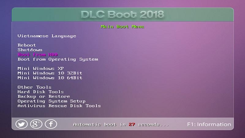 Kiểm tra DLC boot 2018